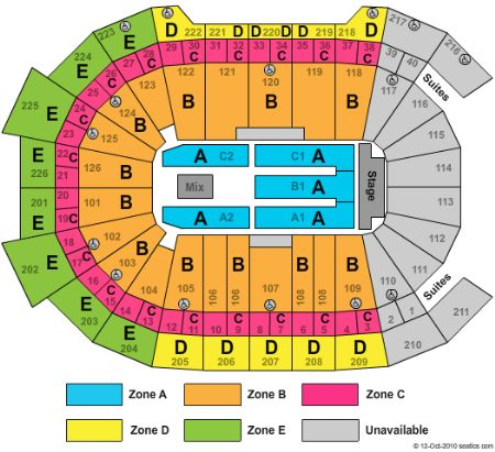 Giant center seating chart giant center hershey pennsylvania
