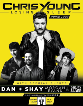Chris Young, Dan And Shay & Morgan Evans at Giant Center